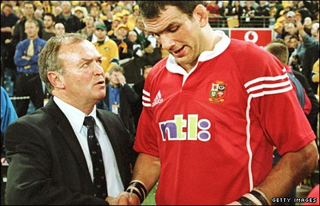 Coach Graham Henry and captain Martin Johnson fall just short of glory in Australia in 2001