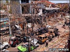 Aftermath of bomb blast in Kuta, Bali