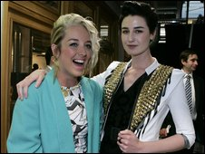 Hayley Scanlan (left) and Erin O'Connor i the jacket