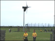 Turbine at the school