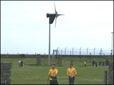 Turbine at the school