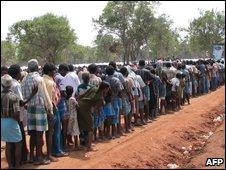 Displaced civilians in Sri Lanka