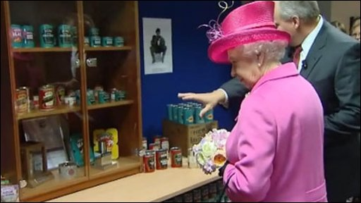 The Queen at the Heinz factory, Wigan