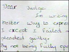 Baby Peter's mother's letter to the judge
