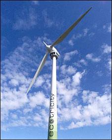 Wind turbine at Swaffham, Norfolk (Photo: PA / Sean Dempsey)