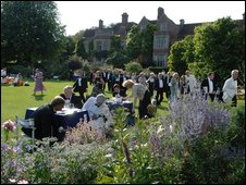 Glyndebourne gardens during the festival (Photo by Mike Hoban)