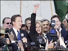 David Cameron, Joanna Lumley, Nick Clegg