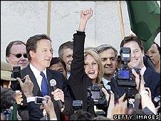 David Cameron, Joanna Lumley, Nick Clegg