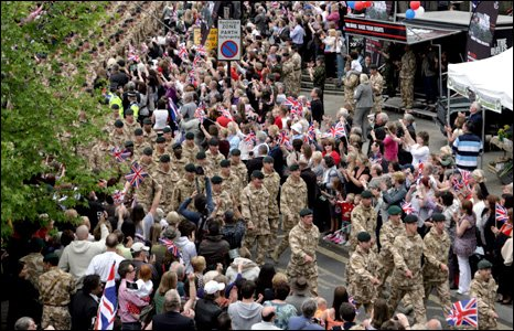 1st Battalion The Rifles Parade on their return from Afghanistan