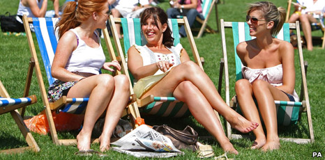 Sunbathers in London's Green Park