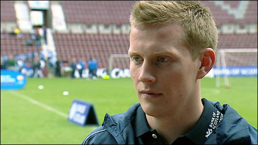 Hearts winger Andrew Driver