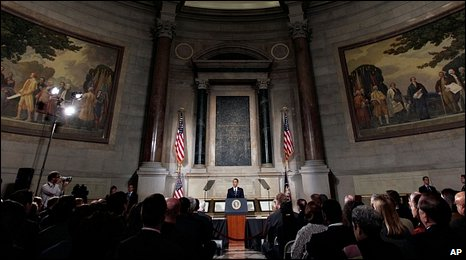 Mr Obama attempted to address the concerns of congressmen in his speech