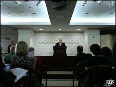 Dick Cheney speaking at the American Enterprise Institute