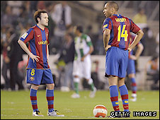 Andres Iniesta and Thierry Henry