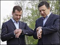 باروسو وميدفيديف