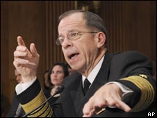 Admiral Michael Mullen, the chairman of the US Joint Chiefs of Staff