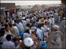 Refugee camp in Swabi, Pakistan