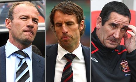 Alan Shearer, Gareth Southgate and Ricky Sbragia