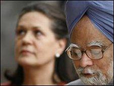 PM Manmohan Singh with Sonia Gandhi