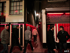 Red light district in Amsterdam (6 December 2008)