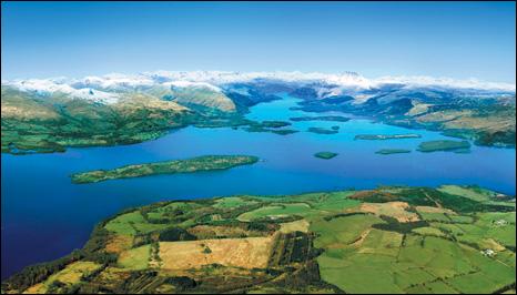 Aerial view of Loch Lomond