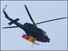 Sri Lankan helicopter