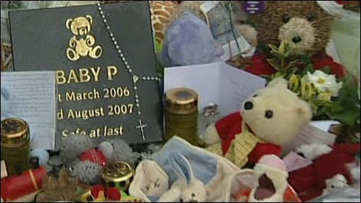 Flowers, toys and messages for baby Peter