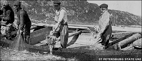 Photo of herring fishermen (Image: St PetersBurg State University)