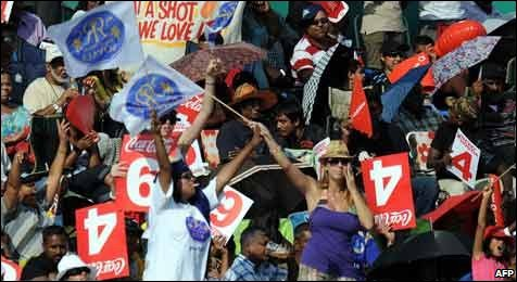 Enthusiastic cricket supporters