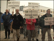 Depositors' protest