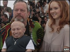 Terry Gilliam, Lily Cole and Verne Troyer