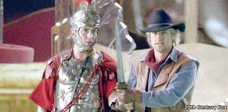 Steve Coogan (Octavius) and Owen Wilson (Jedediah)