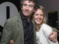 Steve Coogan and Edith Bowman