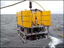 The vehicle is designed to function down to depths of 1,000m plus