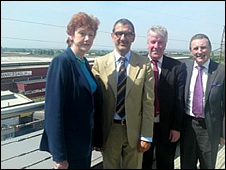 Left to right; Vera Baird, Antonio Marcegaglia, Terry Pye and Mike Leahy