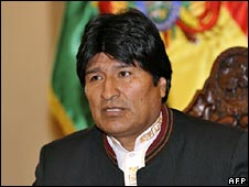 Bolivian President Evo Morales. File photo