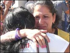 Emotional reunions at Havana airport