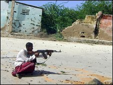 Islamist fighter in Mogadishu 22 May 2009