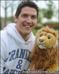James Hook celebrates his Lions call-up