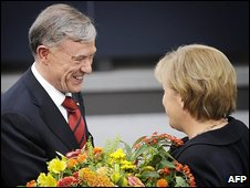 Horst Koehler and Angela Merkel