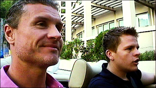 David Coulthard and Jake Humphrey