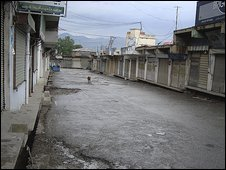 Street in Mingora - 4/05/09