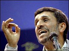 Iranian leader Mahmoud Ahmadinejad