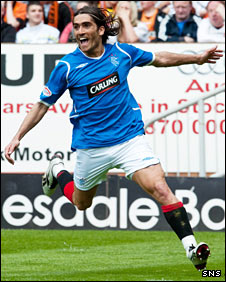 Rangers midfielder Pedro Mendes
