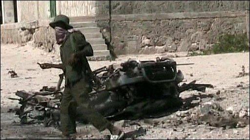 Destroyed vehicle