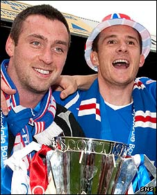Allan McGregor and Barry Ferguson