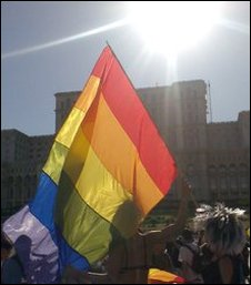Gay pride march, Bucharest