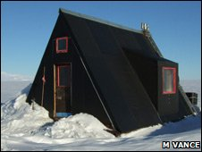 The A-Frame hut on Ross Ice Shelf, Antartica