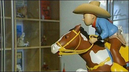 A Tintin figurine