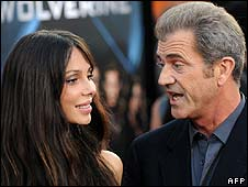 Mel Gibson with Oksana Grigorieva